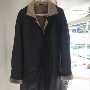 Other - Leather Shearling Coat
